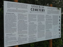 The descriptive historical billboard posted outside the cemetery. , Mark W - July 2014