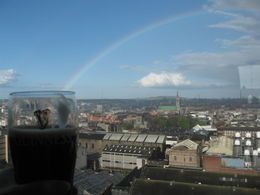 Lovely day for a Guinness-- complete with a rainbow! Taken at the Gravity Bar , sandyski - May 2012