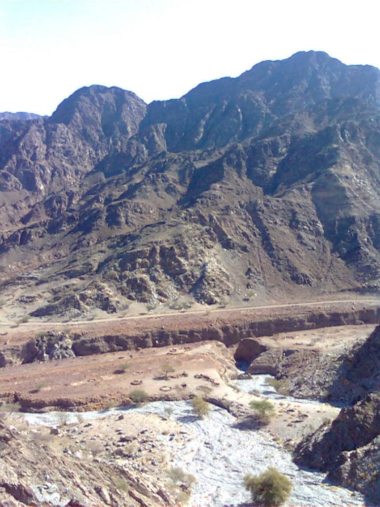 Hajar mountain range - Dubai