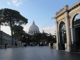 St. Peter's Basilica from the courtyard of the Vatican Museum. , Kevin M - October 2011