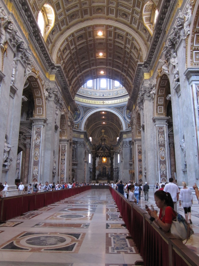 Inside St Peters - Rome