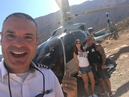 Myself and partner with the coolest pilot ever touring the Grand Canyon on the All American helicopter Tour. The pilots personality made what was already an amazing experience a fun time to ... , Fran B - July 2016