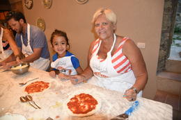 My 7 year old nephew and Mom learning to make Pizza. This was so much fun. One of the highlights from our trip. , Jennifer S - August 2016