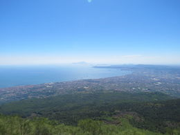 A view looking down from the top of Mount Vesuvius , AJ Condo - July 2014