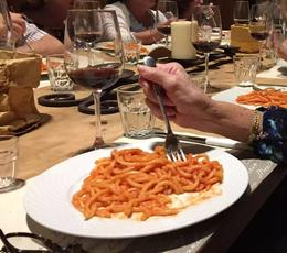 Pasta course, spicy tomato sauce was good. , Lisa C. - October 2016