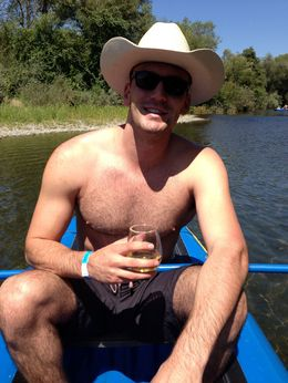 enjoying some sun and wine, Casey - September 2013