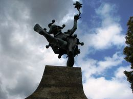 The Jester, popular in Shakespeare's Plays, facing the Main Road, where Shakespeare's birth place stands., Alfred George Cross - September 2009