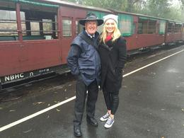 Picture with the Train Conductor. - January 2017