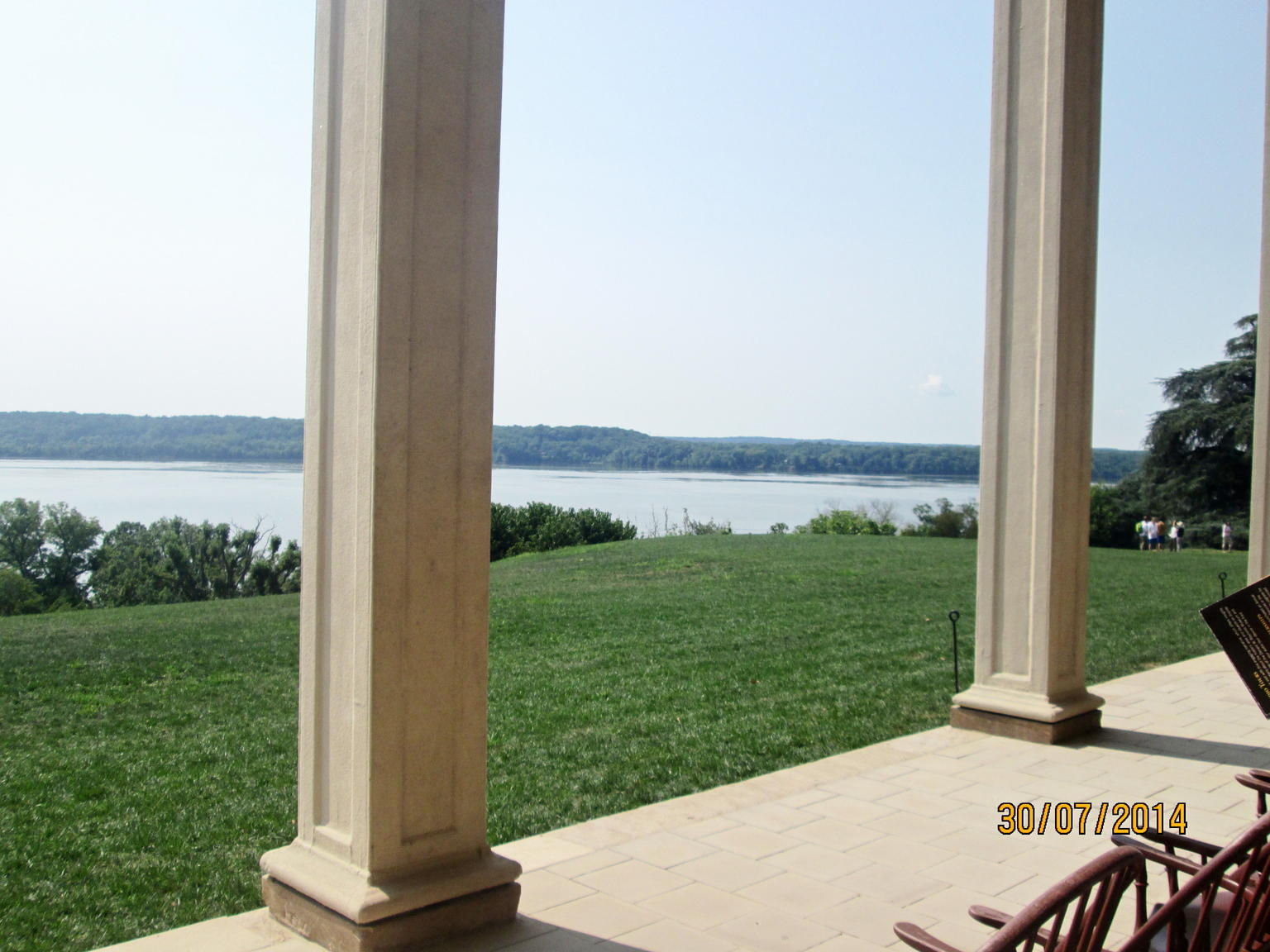 View from the back of Mount Vernon