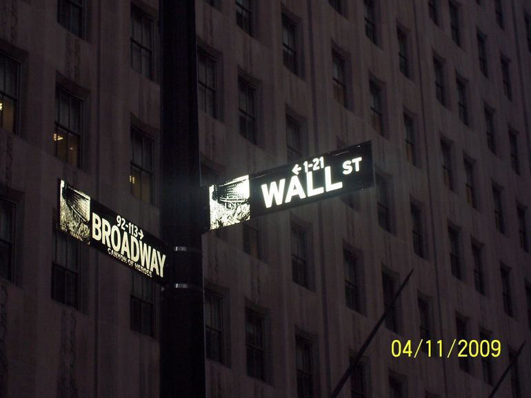 Wall St at Broadway - New York City