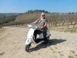 This is me pretending to Vespa! So much fun! , Karla - April 2017