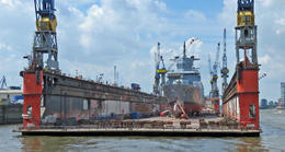 Floating dry dock , Ray T - June 2017