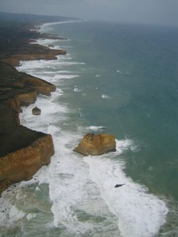 A view of the 12 Apostles from the helicopter!!, Lucie B - October 2007