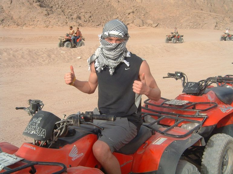 Quad Biking Desert Safari - a happy teenager - Sharm el Sheikh