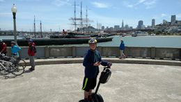 Warren, my 13 year-old son running circles around me in San Francisco. , Jennifer K - June 2016