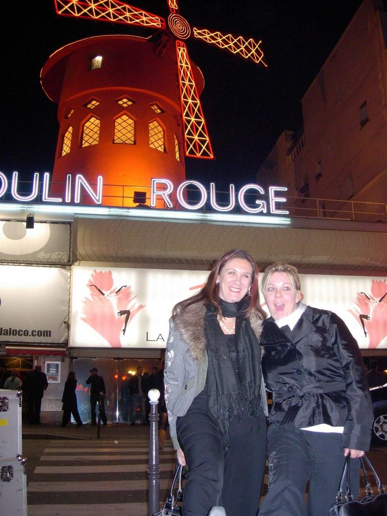 Atfer the Moulin Rouge show - Paris