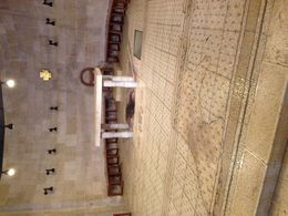 The rock below the alter is the site that the 5 loaves and 2 fish touched during the Jesus miracle. , Rick Z - March 2014