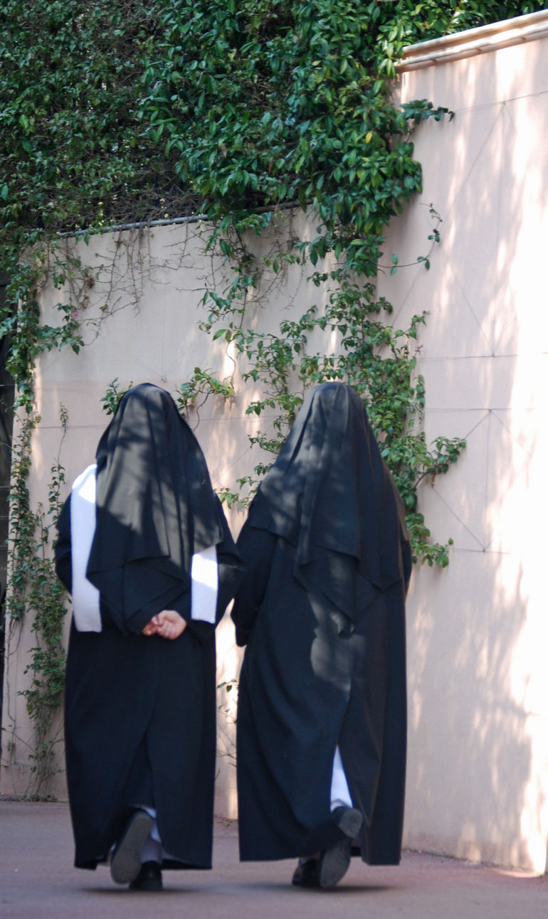 Nuns out for a stroll - Cap Ferrat - March 2010 -