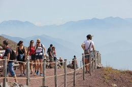 On top of Mt Vesuvius , Yang - September 2014
