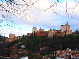 View of the Alhambra, Rachel - January 2014