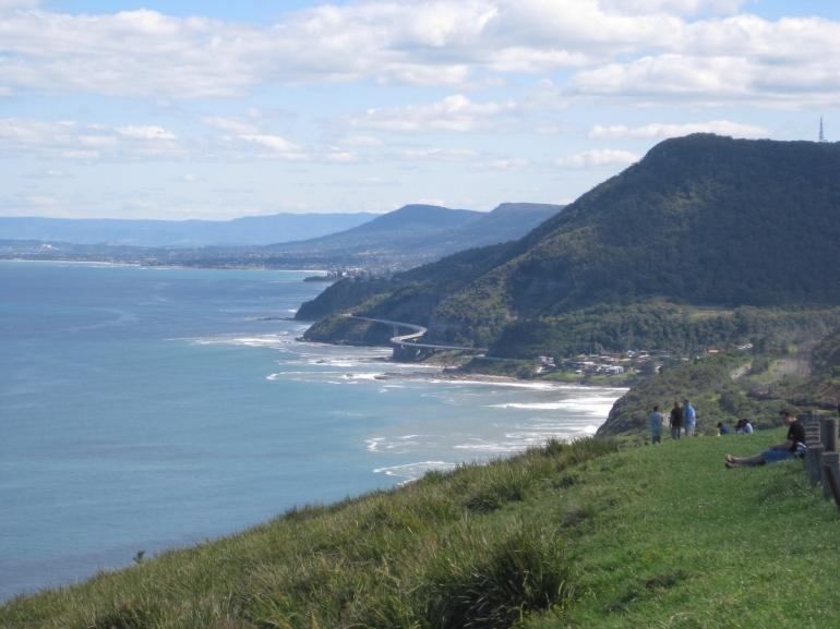 Sea Cliff Bridge from Bald Hill -