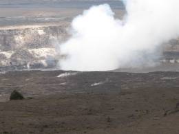 This was taken from the museum on the edge of crater., Kevin P - August 2010