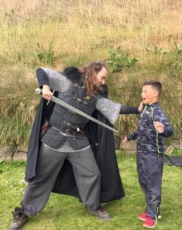 Theo showing our younger son the tricks of the trade! , Aimee M - August 2017