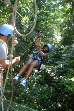 This is me swinging on the zip line..., Shaundrea M - September 2010