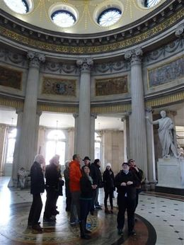 City Hall with our walking group , Hanna - April 2015