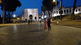 Next to the Colosseum.....this is a stop for, most, every wedding shot in Rome. Truly beautiful at night! , Patricia A M - October 2016