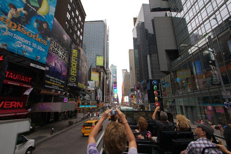 Double-decker bus ride - New York City
