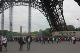 enjoying the eiffel tower - May 2012