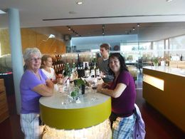 This was us in the tasting room in the Esterhazy Winery, good food and wine in an impressive facility. , Chuck D. M - October 2015