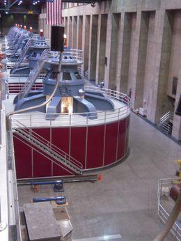 Generator inside of the Dam., Chante W - December 2009