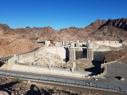 We got to make a stop for photos along the Hoover Dam Bridge - July 2016