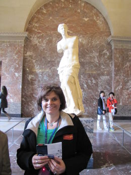 Photo of myself with Venus de Milo, taken at The Louvre. , Garry M - June 2013