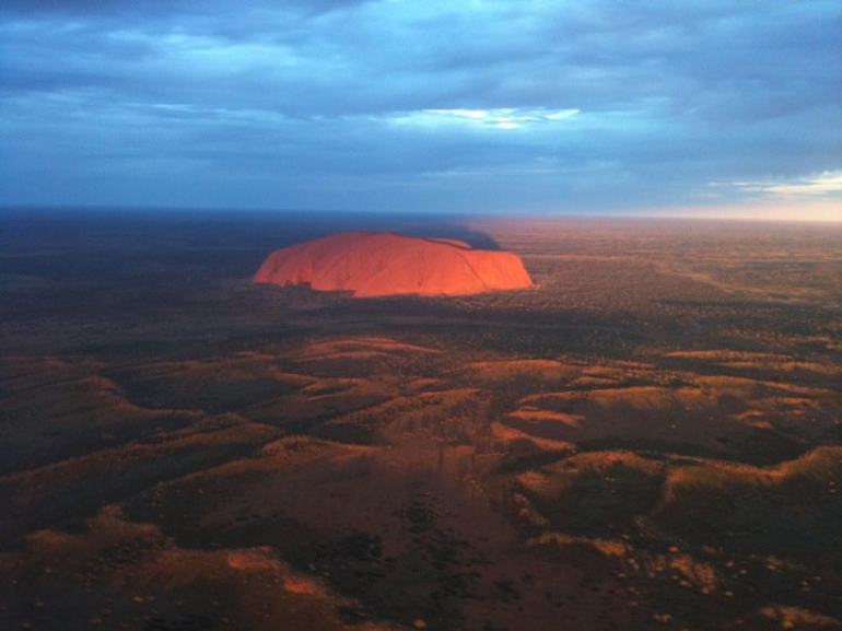 Uluru at sunset by helicopter - Ayers Rock