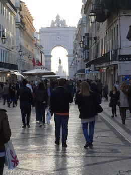 The Baixa district has a wonderful pedestrian-only street for strolling towards the Praca de Commercio whose arch is seen in the distance. Be sure to walk it and enjoy the many sites of Lisbon. , Robert S - November 2014