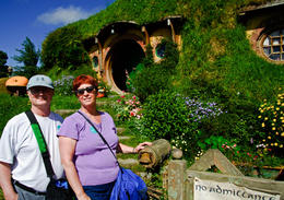 My husband and I at Bilbo's Hobbit Hole. , Susan H - February 2017