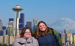 Me and my buddy enjoying our yearly buddy trip! Seattle is great. , Nicole L - May 2011