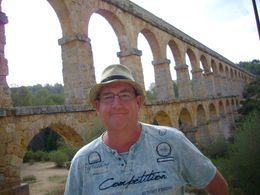 Phil Kirk at the Roman Aqueduct, Tarragona. , Philip K - August 2016