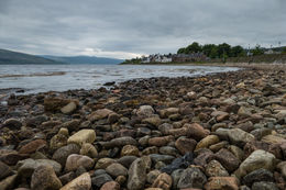 A short walk from the main street is this small pebbly beach. A beautiful place. , Steve S - June 2015