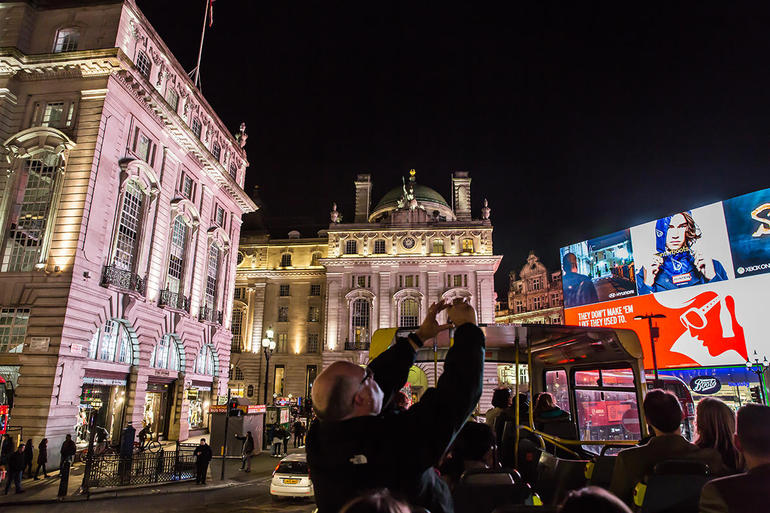 London by Night Sightseeing Tour - Open top bus