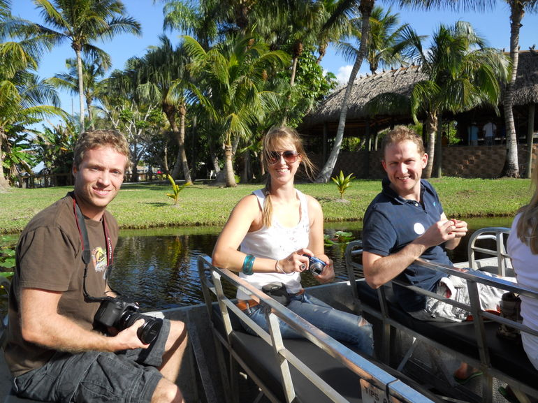 On board the airboat - Miami