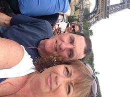 Husband and I enjoying the beautiful architecture in Paris , Suzanne G - October 2015