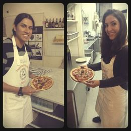 just took out our pizzas from the oven!! ready to eat! YUMMY! , anamarisa - December 2013