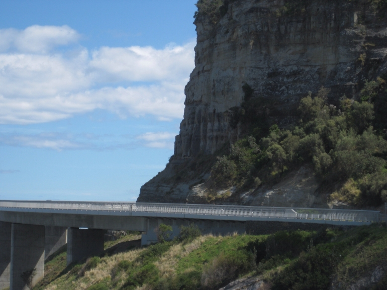 Sea Cliff Bridge near the cliffs -