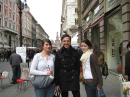 Louise and Sophie with their personal shopping consultant. So many shops so little time!, Ann W - April 2008