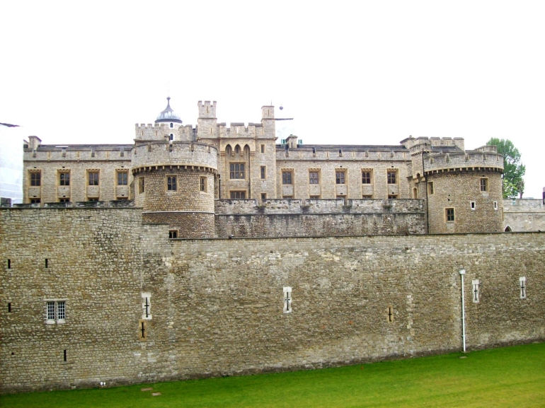 The Tower of London from the outer wall - London