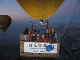 This was an exciting adventure for our flying group of people from different countries. A Lady in our balloon was celebrating her 83rd birthday! , Djonnie - January 2014
